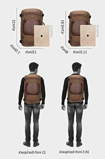 WITZMAN Men Travel Canvas Duffel Bag 21