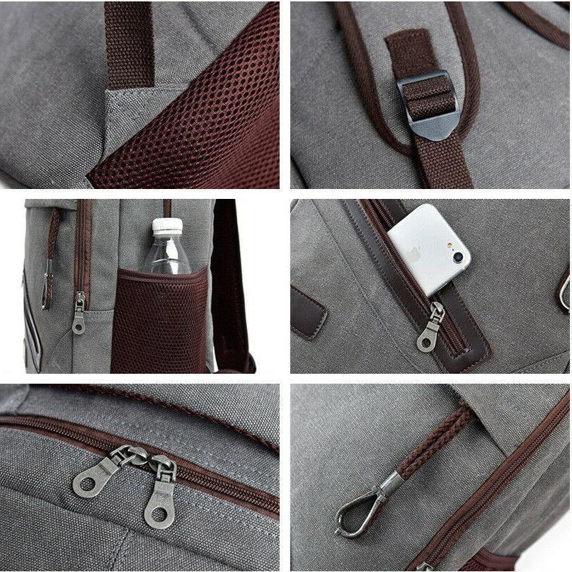 Men Women Backpack Rucksack Travel Schoolbag Book