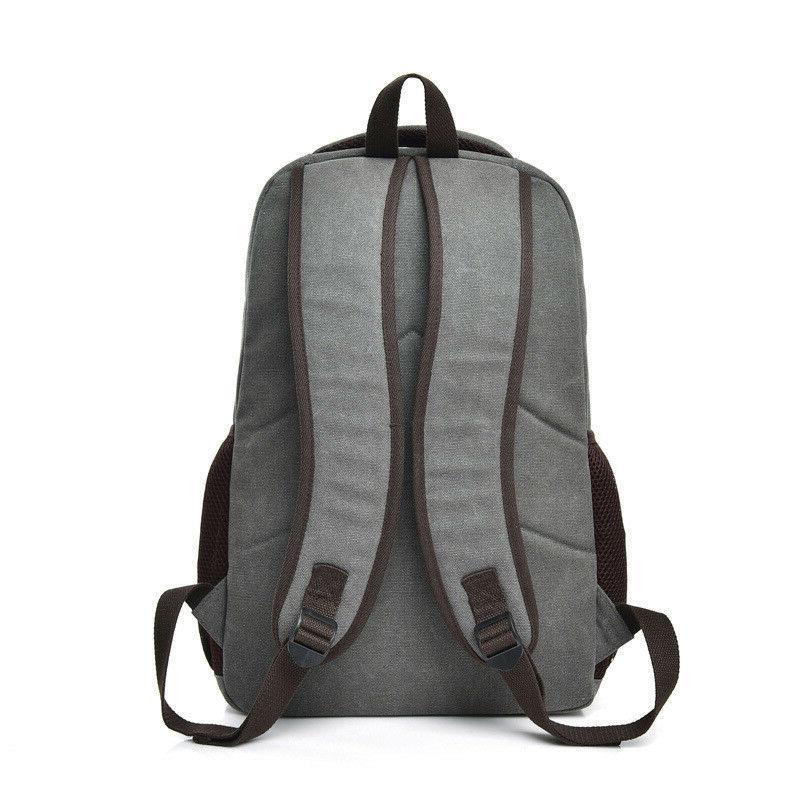 Men Canvas Backpack Rucksack Travel Book Bag