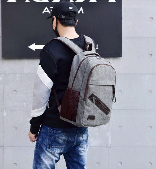 Men Backpack Rucksack Travel Student