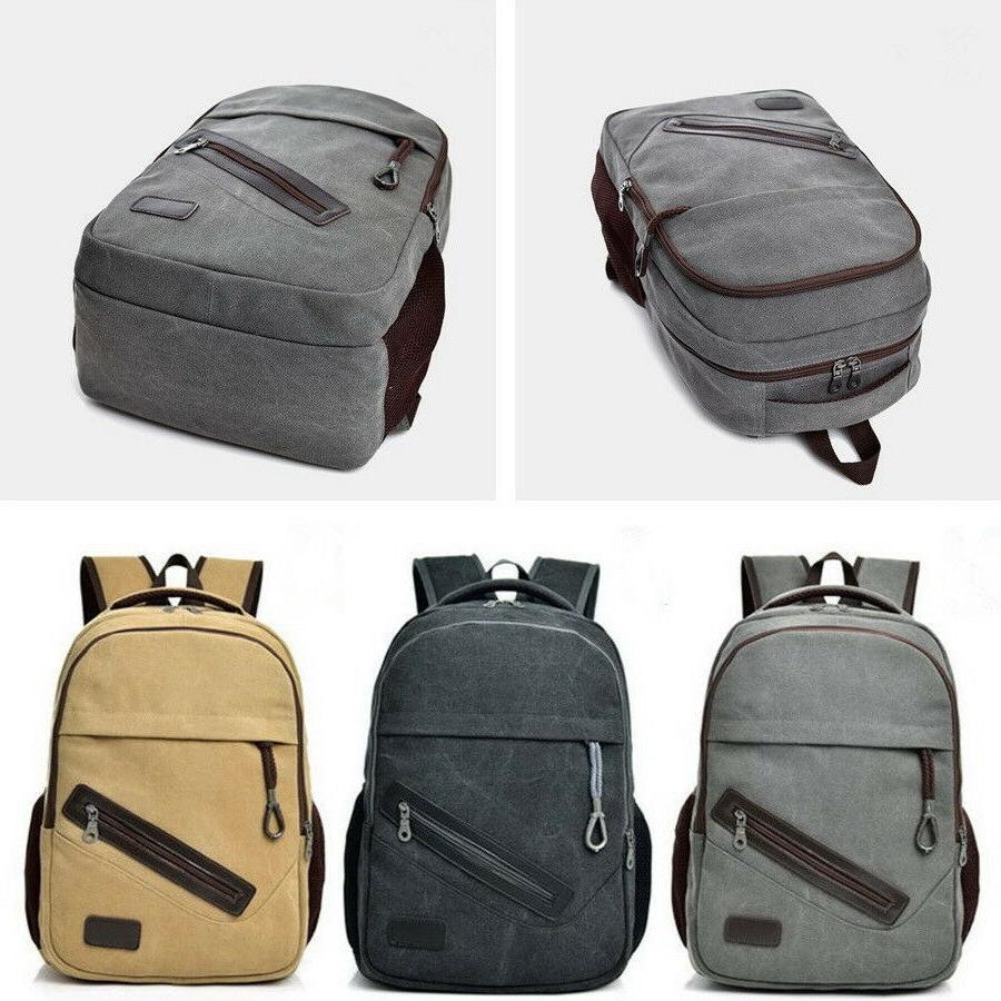 Men Rucksack Travel Student Book Bag
