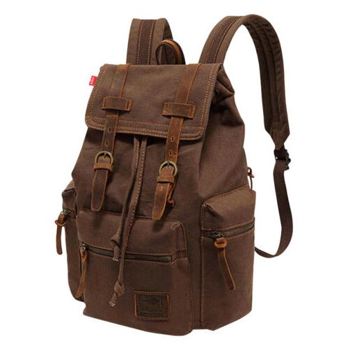 Men Women Retro Travel Bag Rucksack School
