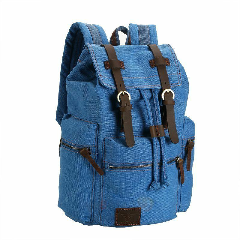 Men Vintage Canvas Rucksack School Satchel Travel