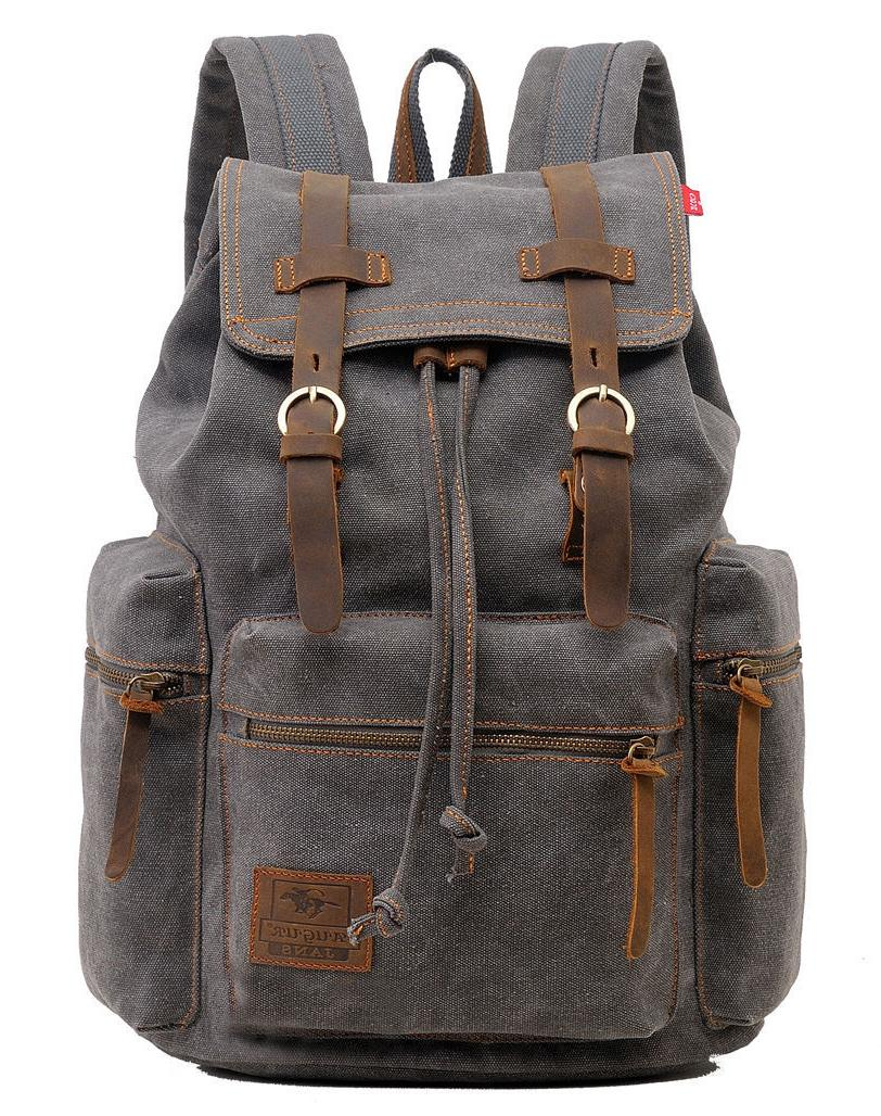 Men Women Vintage Army Canvas Satchel