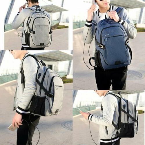 Mens Anti-Theft Travel Shoulder Laptop Notebook Bag