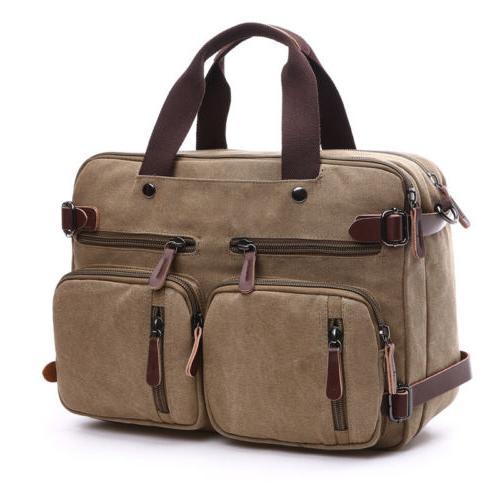 Mens Laptop Backpack Crossbody Bag