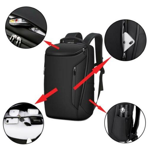 Men Anti-Thief Backpack USB School