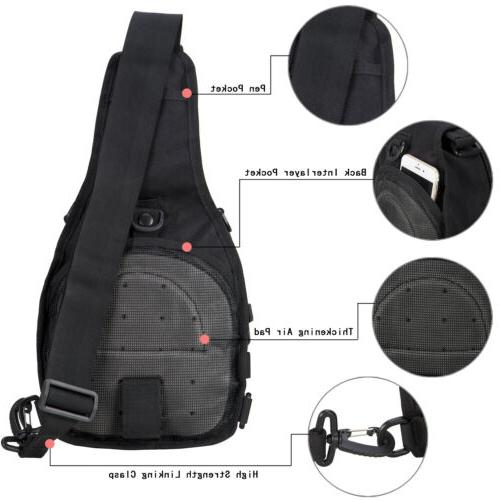Mens Outdoor Tactical Backpack Travel Crossbody Pack Sports