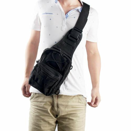 Mens Outdoor Sling Bags Tactical Pack Sports Chest