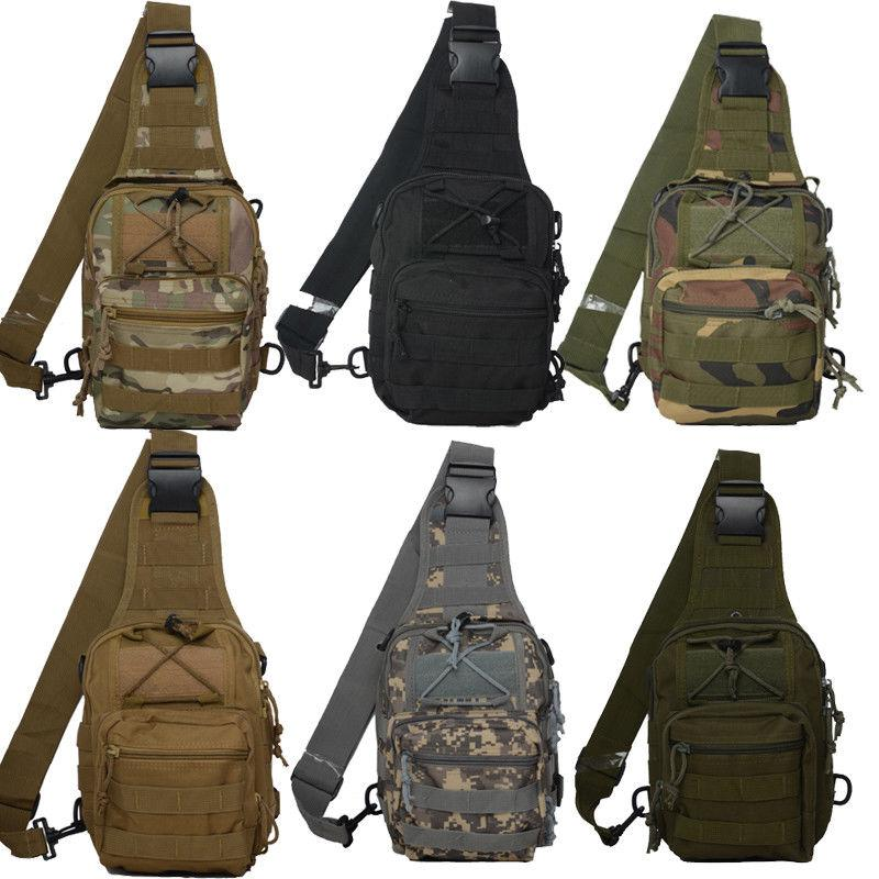 Mens Military Shoulder Chest Camping Hiking