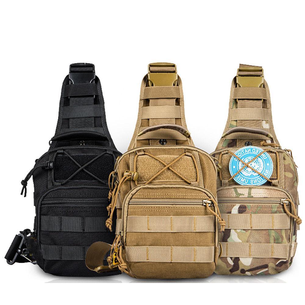 Mens Military Crossbody Shoulder Bag Pack Camping Hiking Backpack