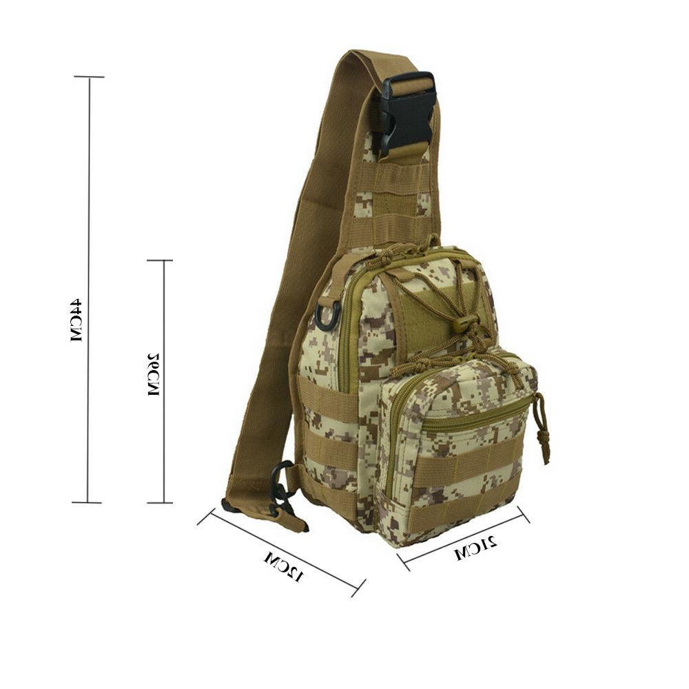 Mens Tactical Shoulder Chest Pack Camping Hiking Backpack