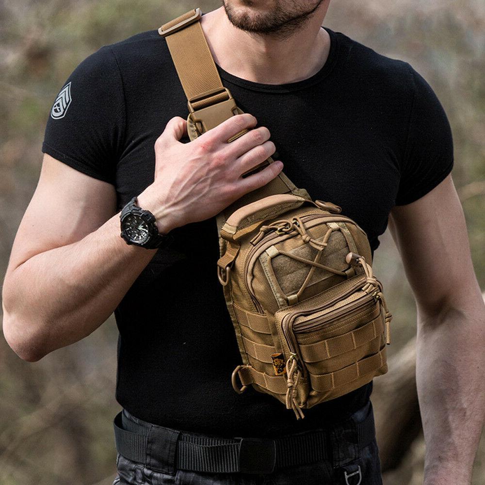 mens tactical military crossbody shoulder bag chest