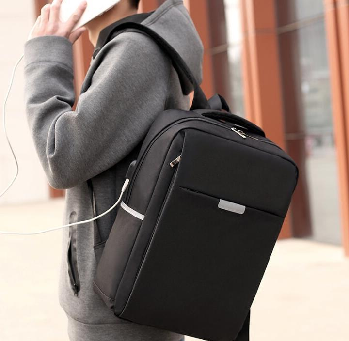 Mens Womens Business Notebook Backpack+USB Charge Travel Sch