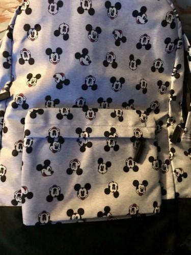 Disney Gray Black Large Backpack