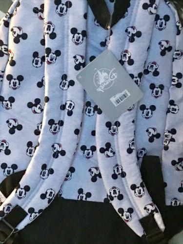 Disney Faces Gray Black Backpack NEW NWT