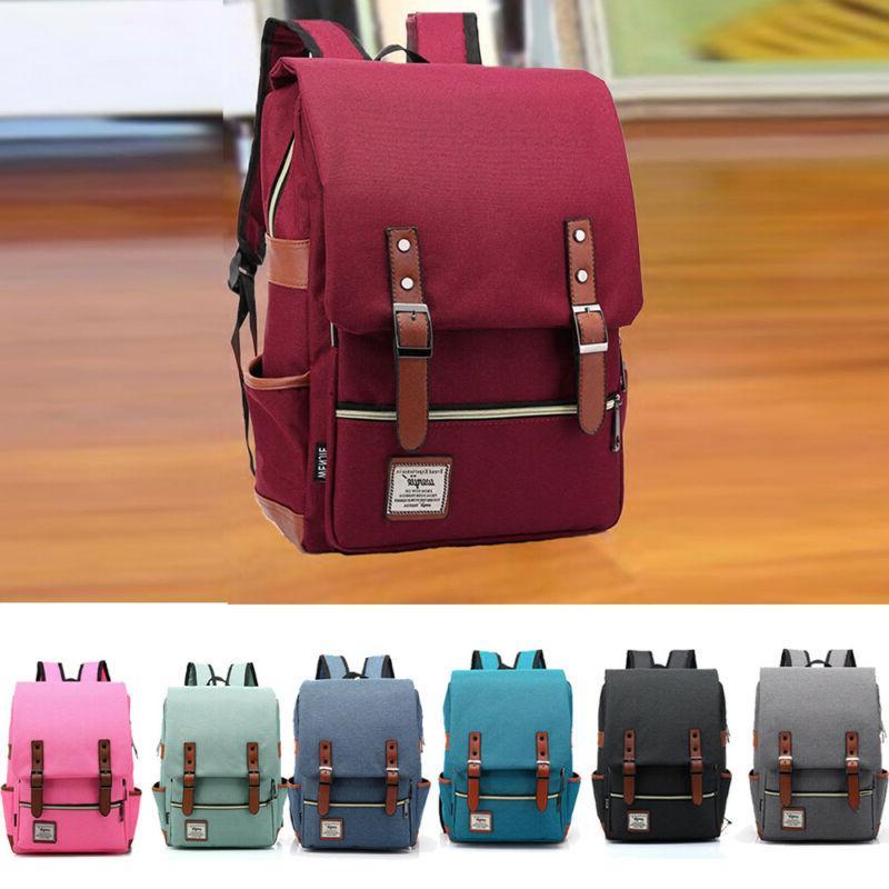 modern unisex shoulder canvas backpack rucksack school