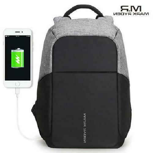 Mark Multifunction USB charging 15inch Laptop Backpacks Anti
