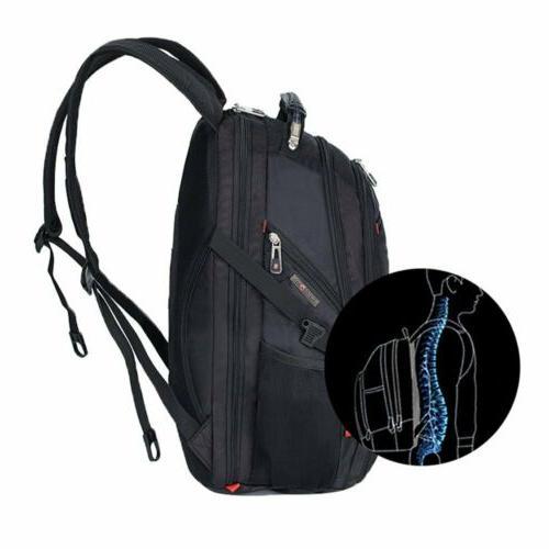 Swiss Multifunctional Laptop USB Port Schoolbag
