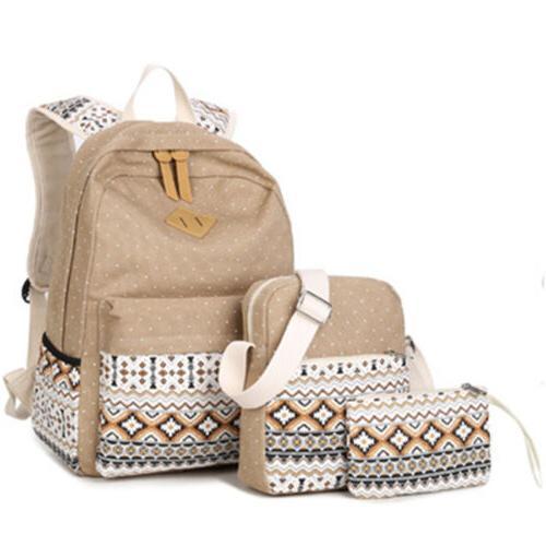 New 3pcs/Set Canvas Travel Bags Teenage
