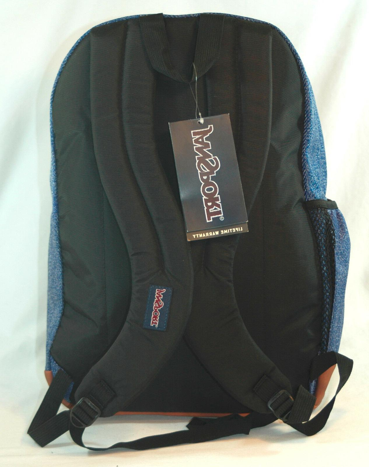 New JanSport Big Student Laptop Backpack -- Blue Twill