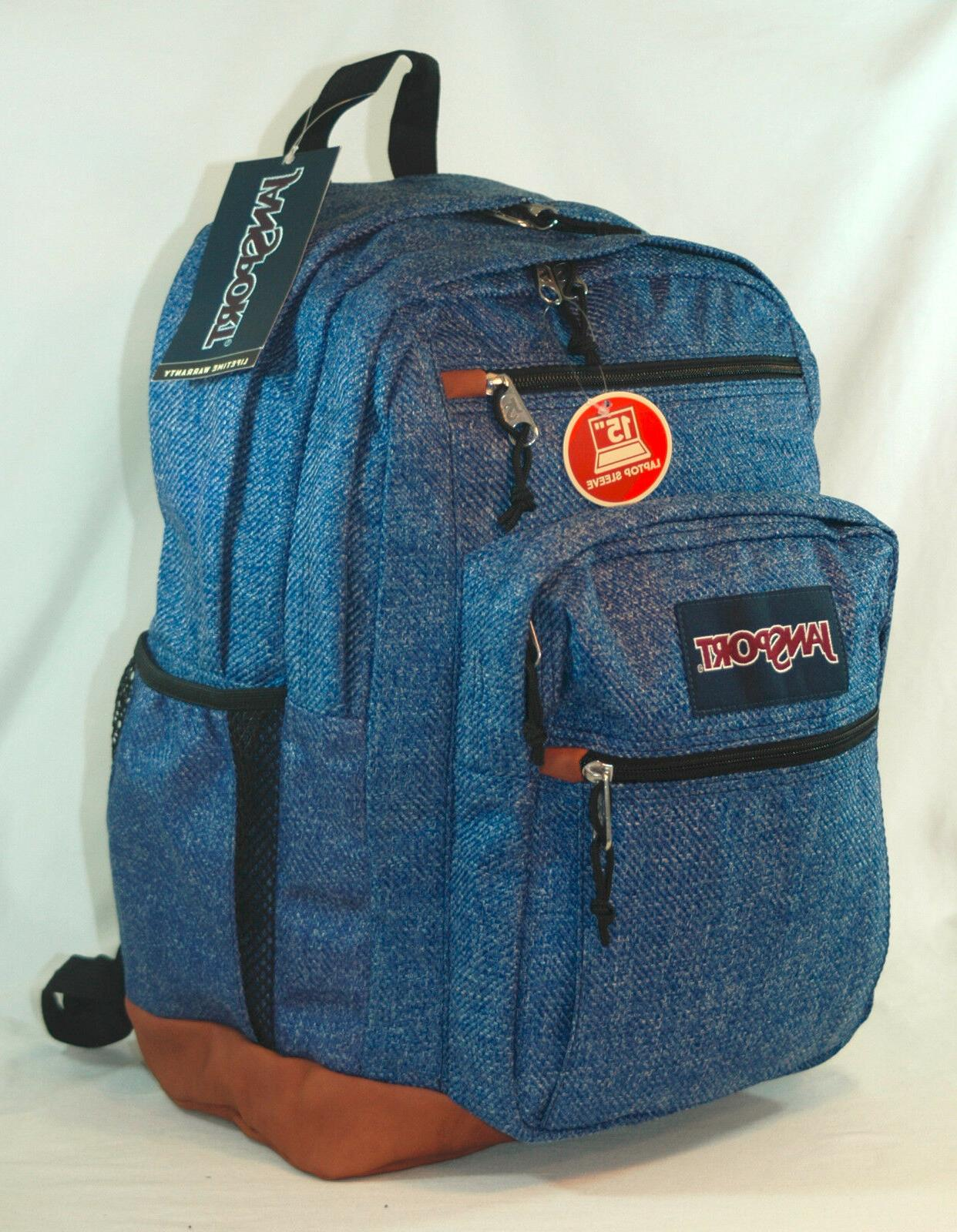 new big cool student laptop backpack blue