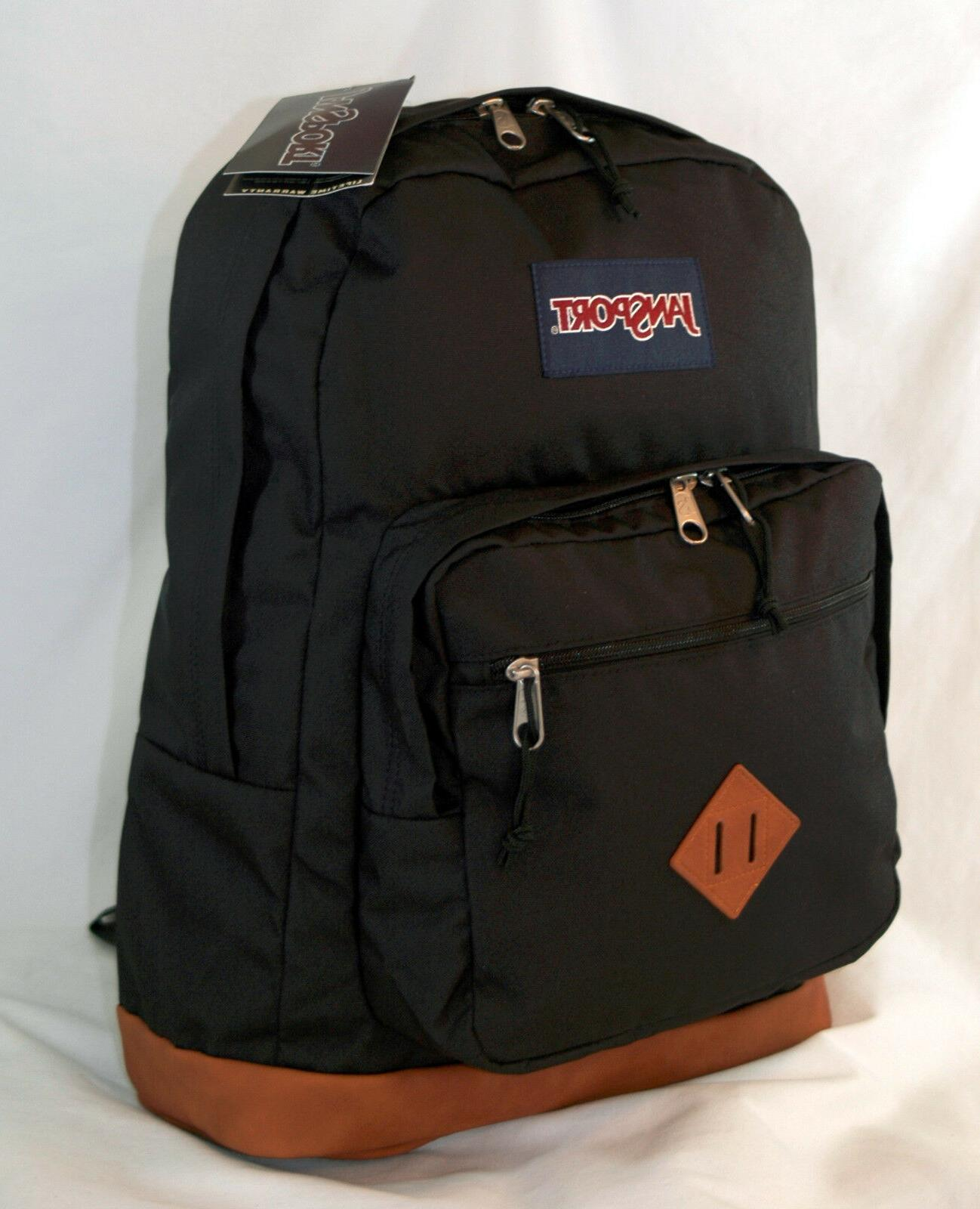 new city view laptop backpack black
