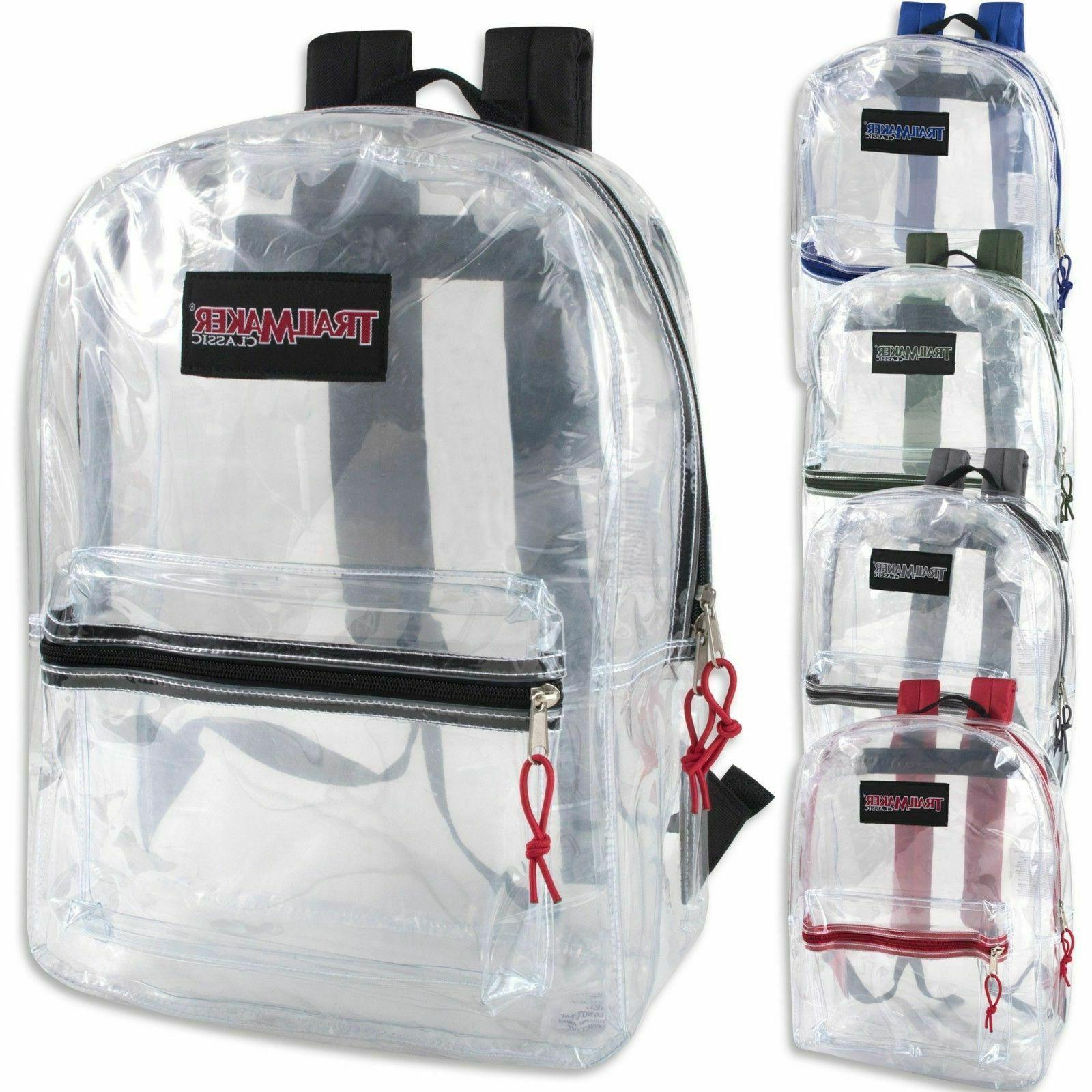 new classic 17 inch clear backpack black