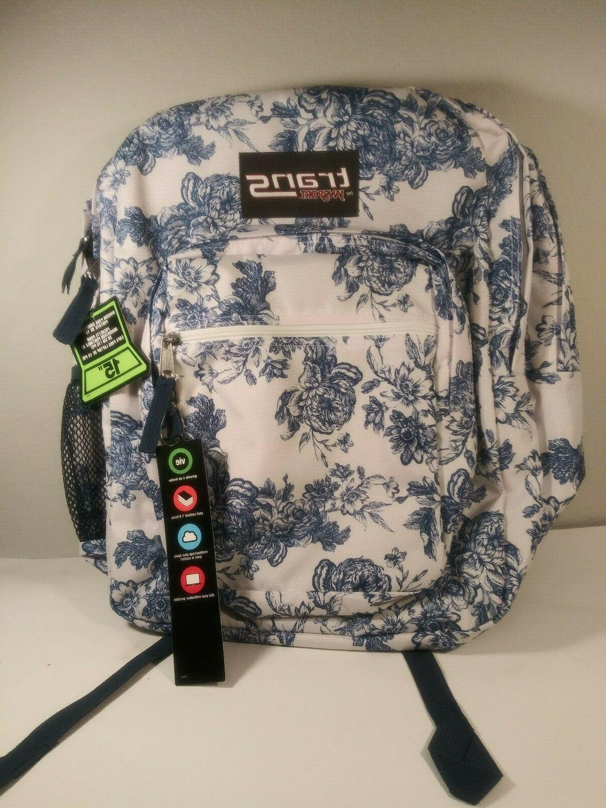 """NEW Trans By JanSport 17"""" SuperMax Cat Backpack Cat Crowd Na"""