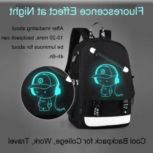 Night Luminous Anti-Theft Laptop Bag School