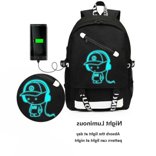 Night Luminous Laptop Bags With USB Port