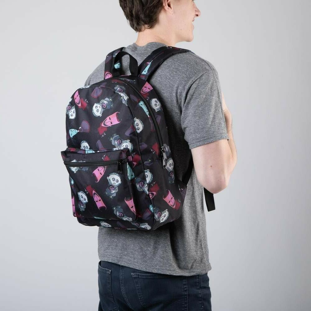 DISNEY NIGHTMARE BEFORE CHRISTMAS SUBLIMATED ALL OVER PRINT BACKPACK BLK