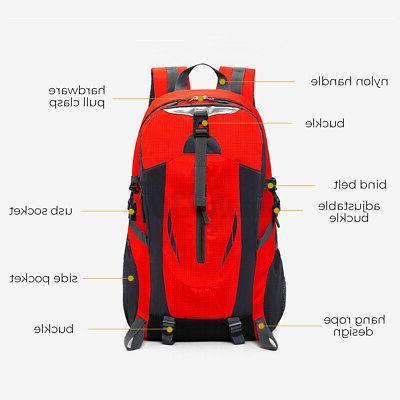 Nylon Travel Shoulder Backpack Hiking Laptop