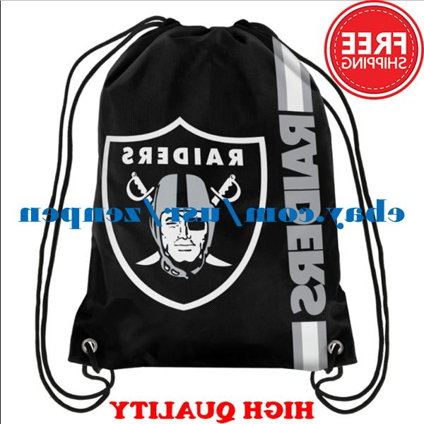 Oakland Raiders Logo Drawstring Backpack Fan Gym Sport Bag 3