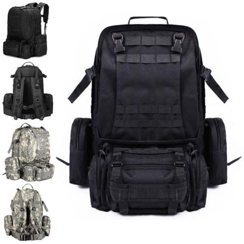 L- Outdoor Sports BAG Travel Tactical Military Backpack Blac