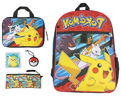 pokemon kids 16 backpack 5pc combo set