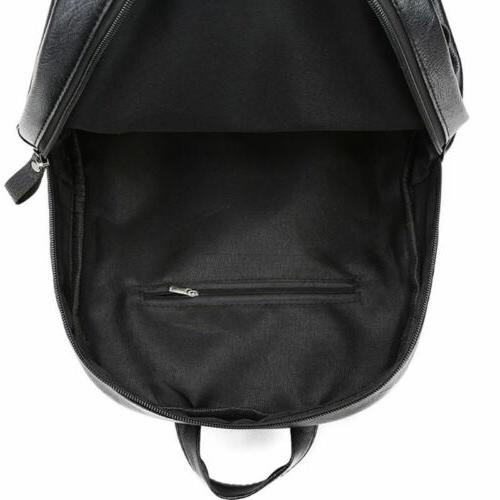 PU Leather Large Girls Solid Rucksacks