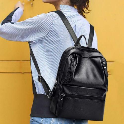 pu leather women s backpacks large capacity
