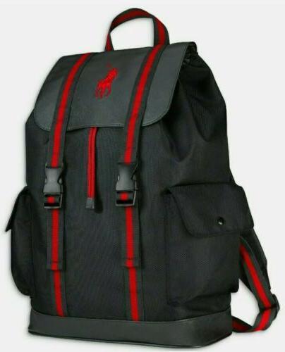 ralph lauren polo backpack bookbag red new