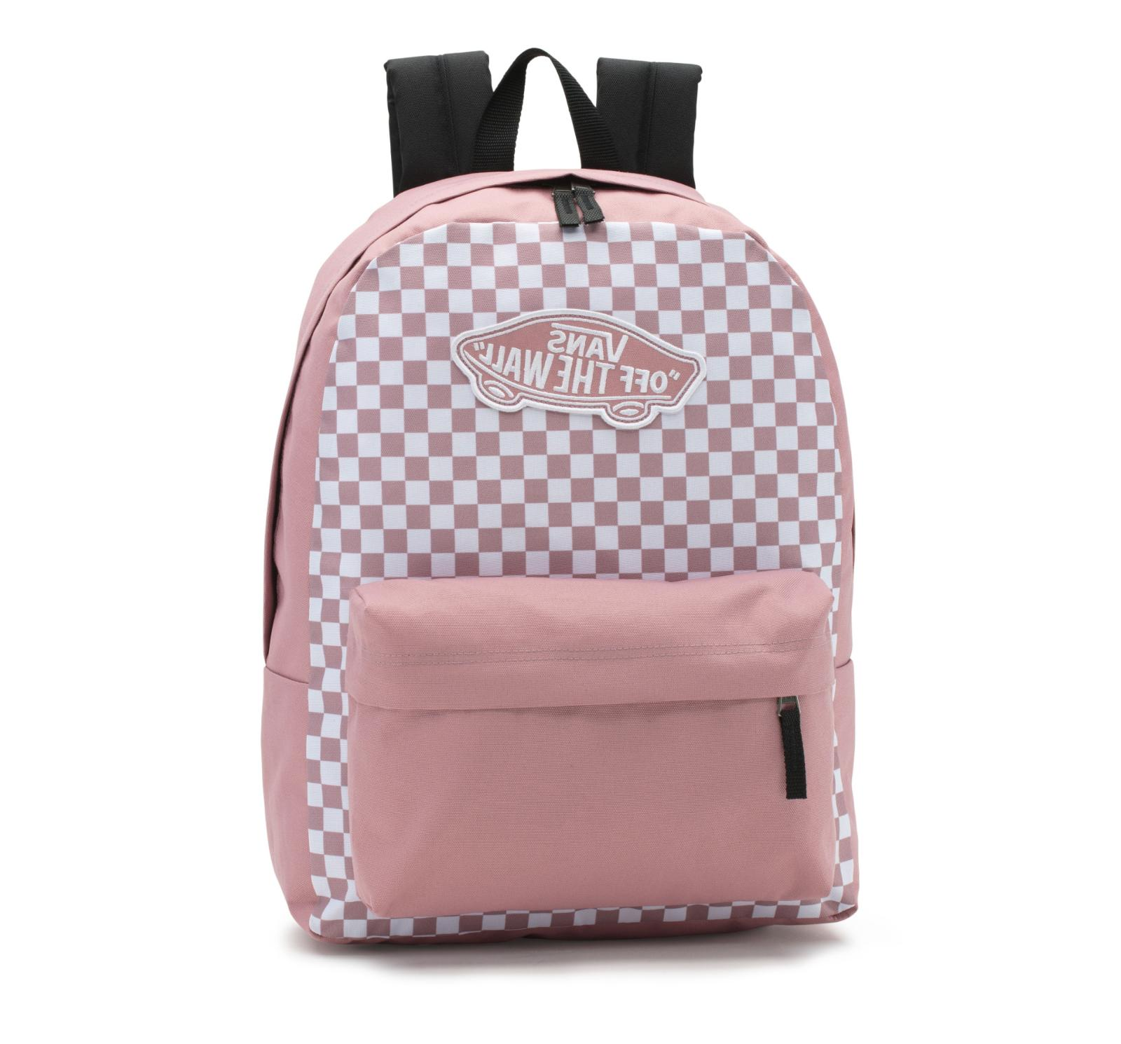 Vans Realm Printed Backpack OTW Nostalgia Rose Book Bag Pink