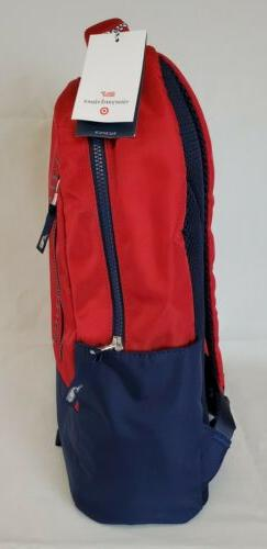 Vineyard Vines Red and Navy Blue Backpack Brand Limited