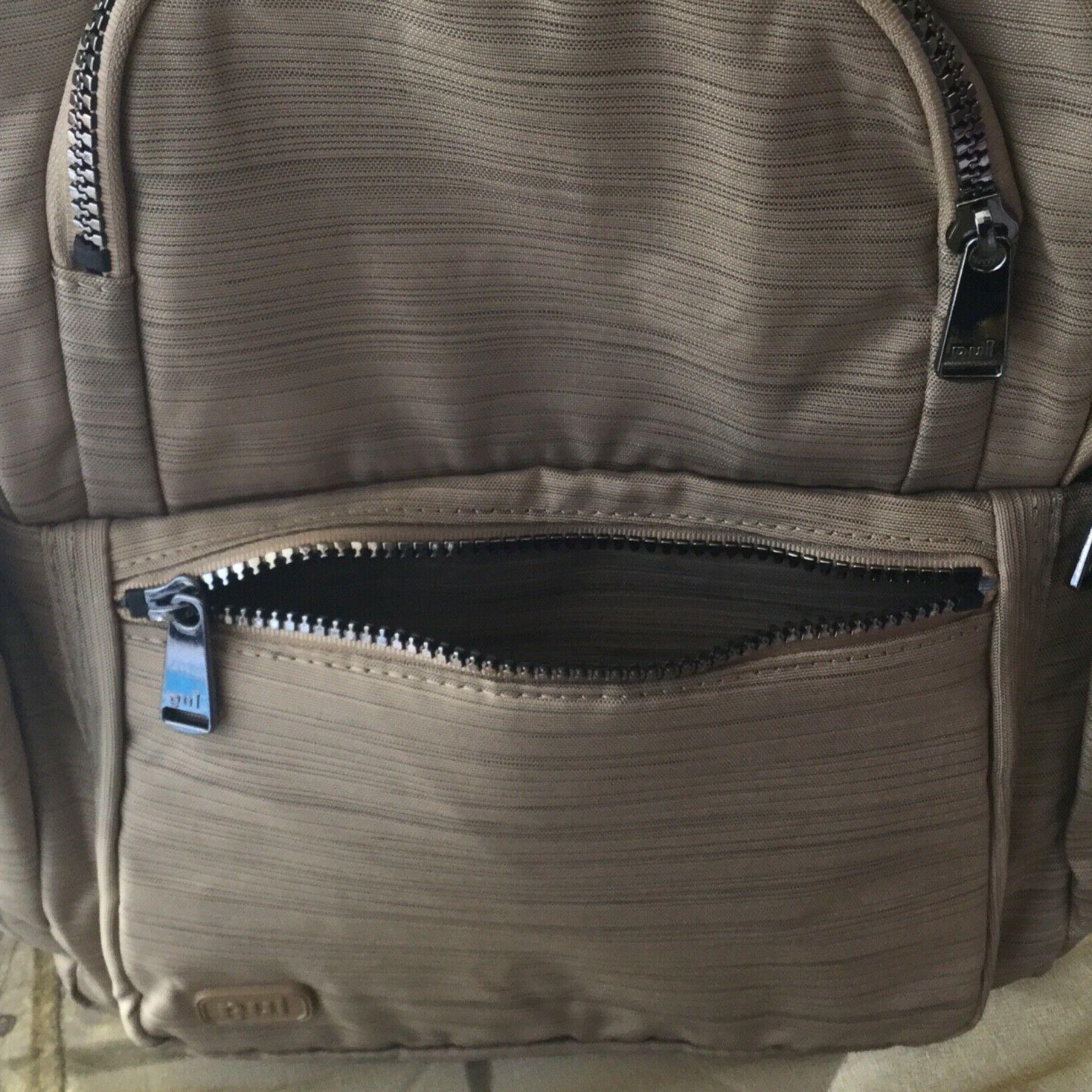 Lug Hatchback Mini Travel School Backpack Handbag Brushed Gold