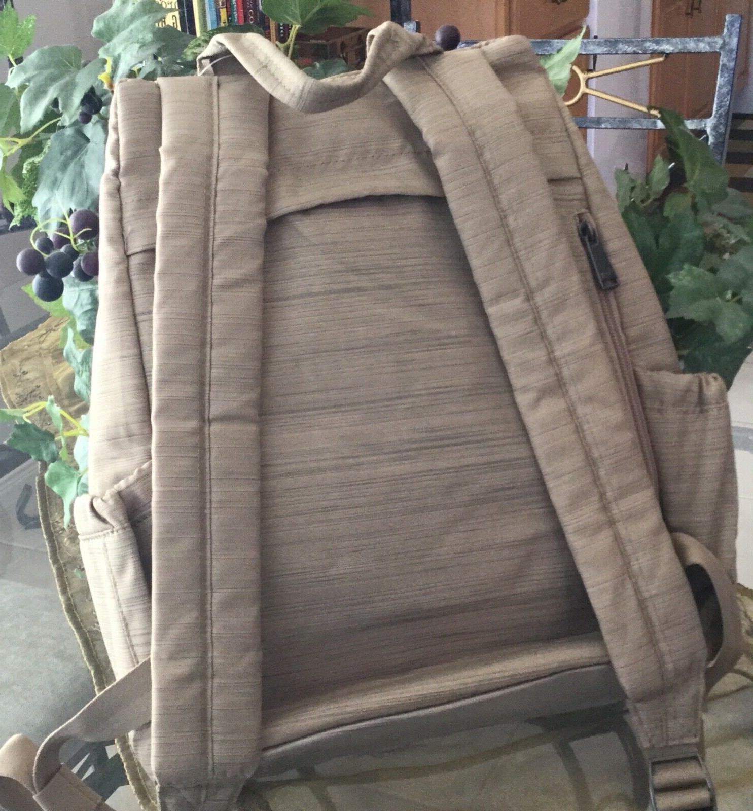 Lug RFID Travel School Commuter Backpack Handbag Brushed