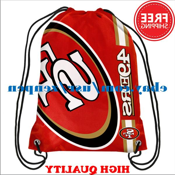 San Francisco 49ers Logo Drawstring Backpack Fan Gym Sport B