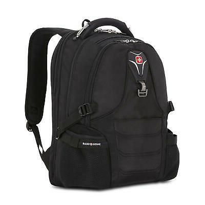 scansmart multi compartment padded laptop backpack black