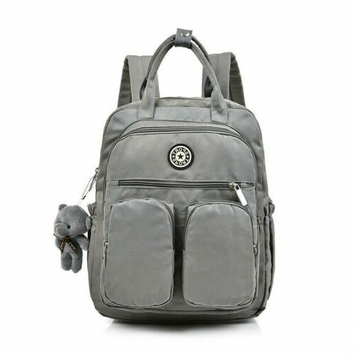 School Backpack Teenage Women Laptop Nylon Waterproof