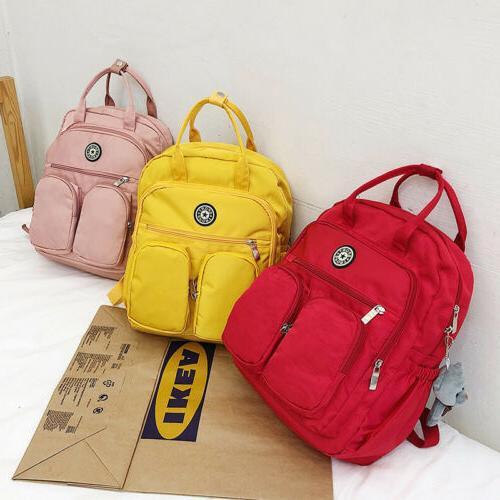 School Teenage Girl Women Laptop Backpacks Nylon Waterproof Bag Pack