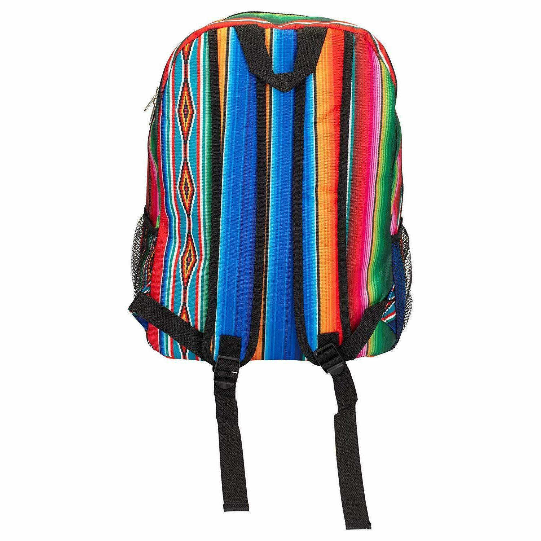 Serape 17 Large Microfiber Zipper Backpack