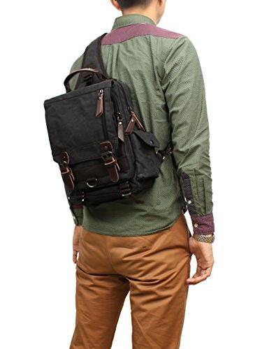 Mygreen Backpack Men and Shoulder Canvas Messenger Sling Bag Sport