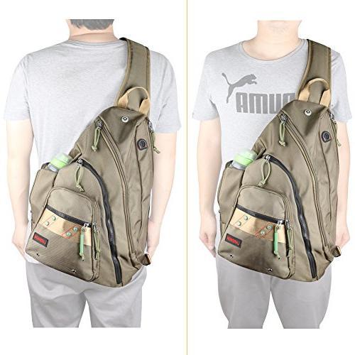 Larswon Bag for Bag Shoulder Backpack, Army